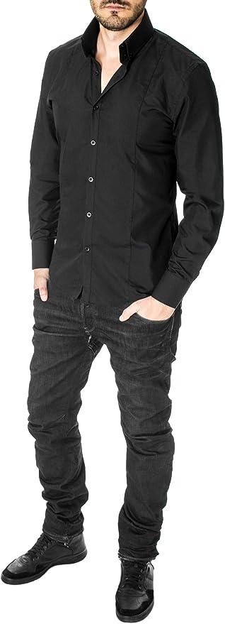 MSSF501 Mens Slim Fit High Collar Dress Shirt