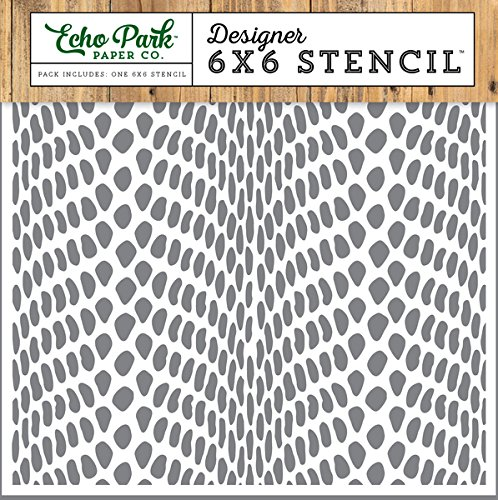 Company Snake - Echo Park Paper Company Snake Skin Jungle Safari Stencil