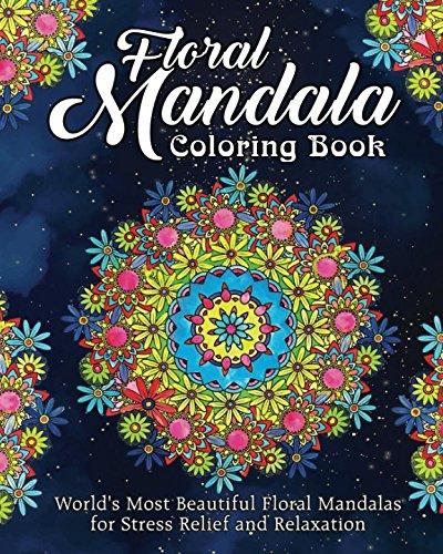 Floral Mandala Coloring Book: World