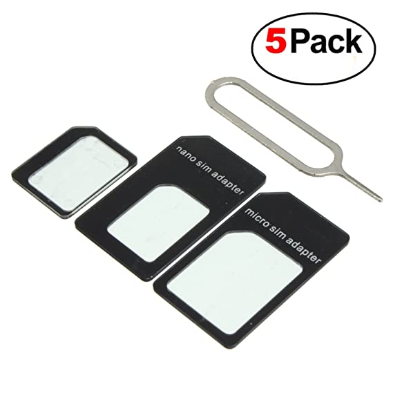 Amazon.com: (5 Pack) adaptador de tarjeta nano sim a Micro ...