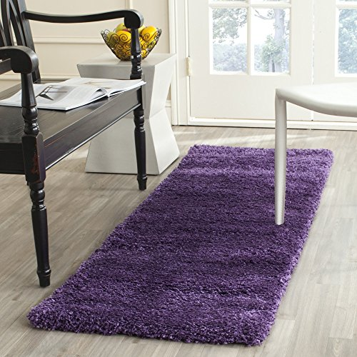 Safavieh Milan Shag Collection SG180-7373 Purple Runner (2' x 8') (Polypropylene Shag Rug)