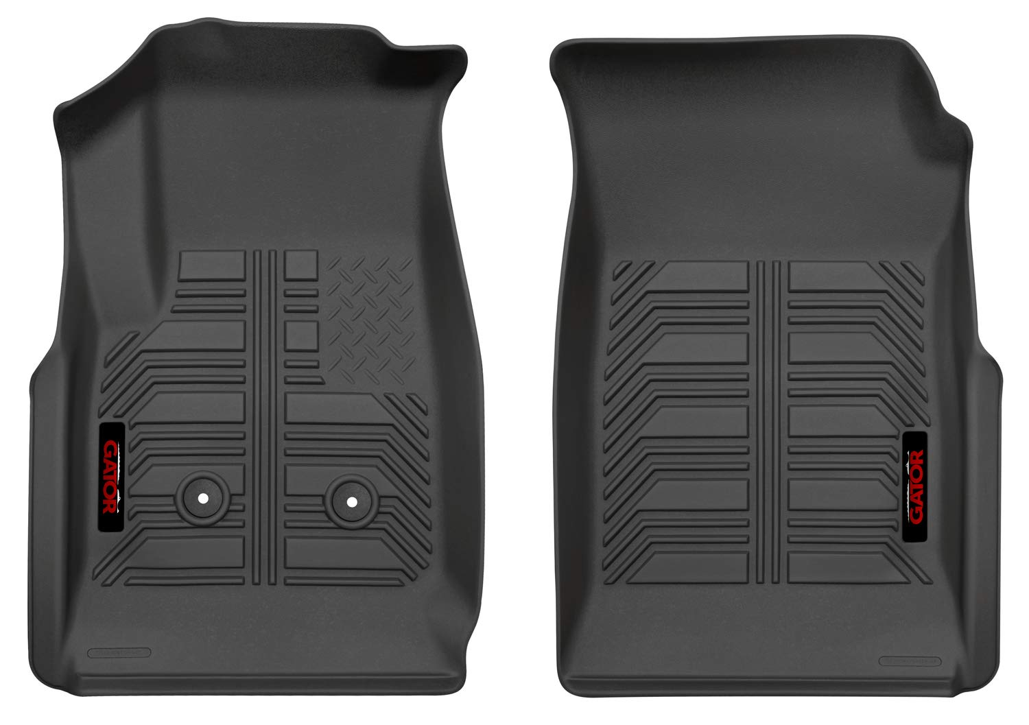 2015-19 GMC Canyon Crew//Extended Cab Fits 2015-19 Chevrolet Colorado 2015-19 GMC Canyon Crew//Extended Cab Gator 79402 Black Front Floor Liners Fits 2015-19 Chevrolet Colorado