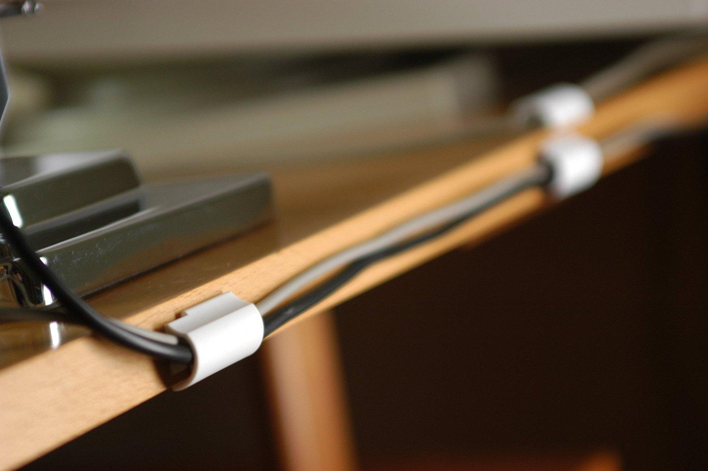 Tesa Powerstrips® - Clip para cable (autoadhesivo, retira sin dejar residuos), color blanco, 1 Großpackung | 25 Clips, 1: Amazon.es: Industria, ...