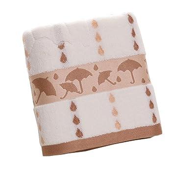 Algodón torsadé inalámbrico Jacquard paraguas Plus grueso regalo absorbente suave grande toalla de baño: Amazon.es: Salud y cuidado personal