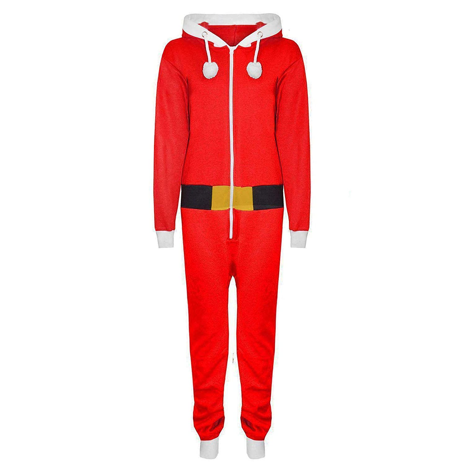 Zaif & Hari® Kids Children Boys Girls Elf Santa Helper Christmas Jumpsuit All in One Onesie Age 7-13 Years