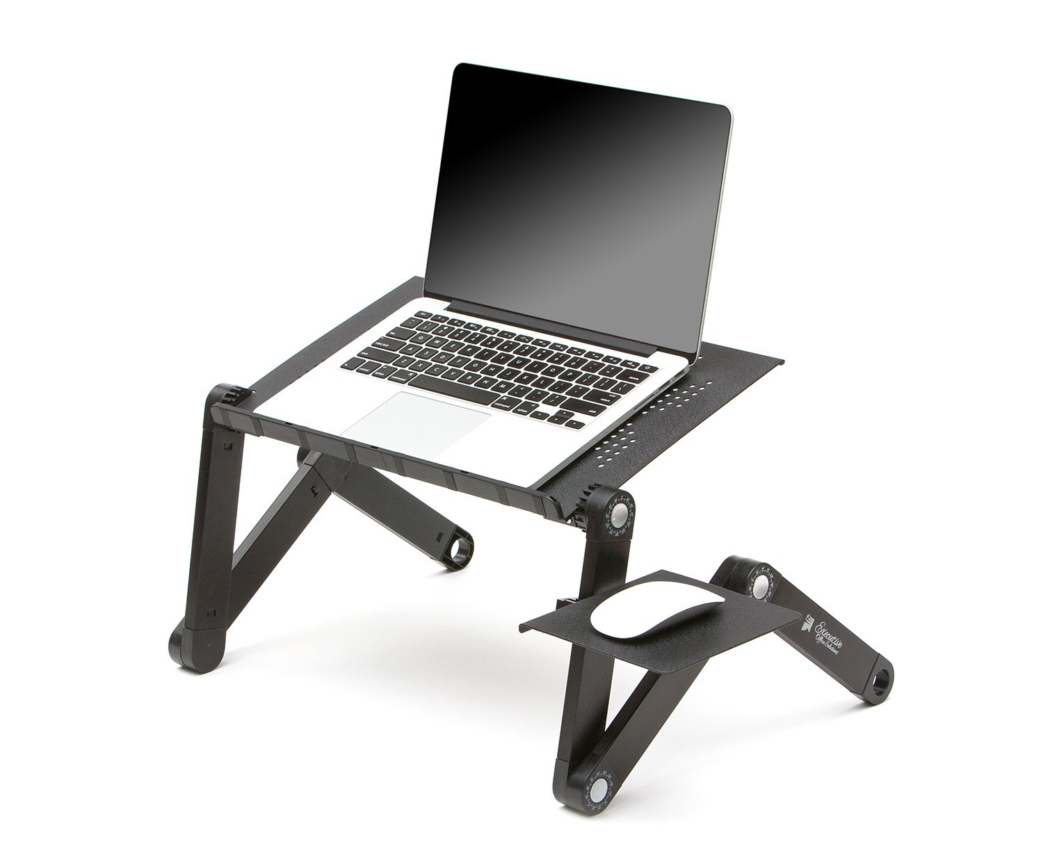 Strong-Willed Ventilated Adjustable Laptop Stand Laptop & Desktop Accessories Black