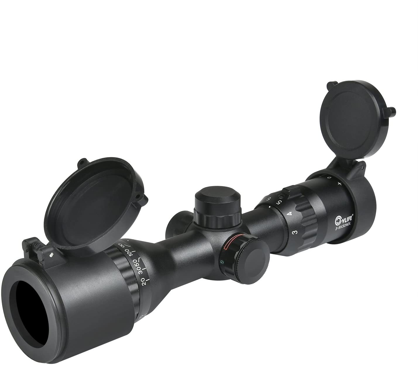 Amazon.com : CVLIFE Hunting Rifle Scope 3-9x32 AOL Red and Green Illuminated Tactical Gun Scope with 20 mm Mounts (Green Lens) : Sports & Outdoors