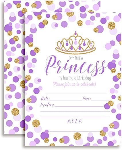 GIRLS 10 PRINCESS INVITATIONS//ENVELOPES /&10  PARTY BAGS IN 1 PACK//BIRTHDAY PARTY
