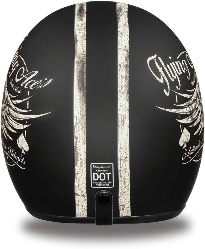 Flying Aces 100/% DOT Approved Daytona Helmets Motorcycle Open Face Helmet Cruiser