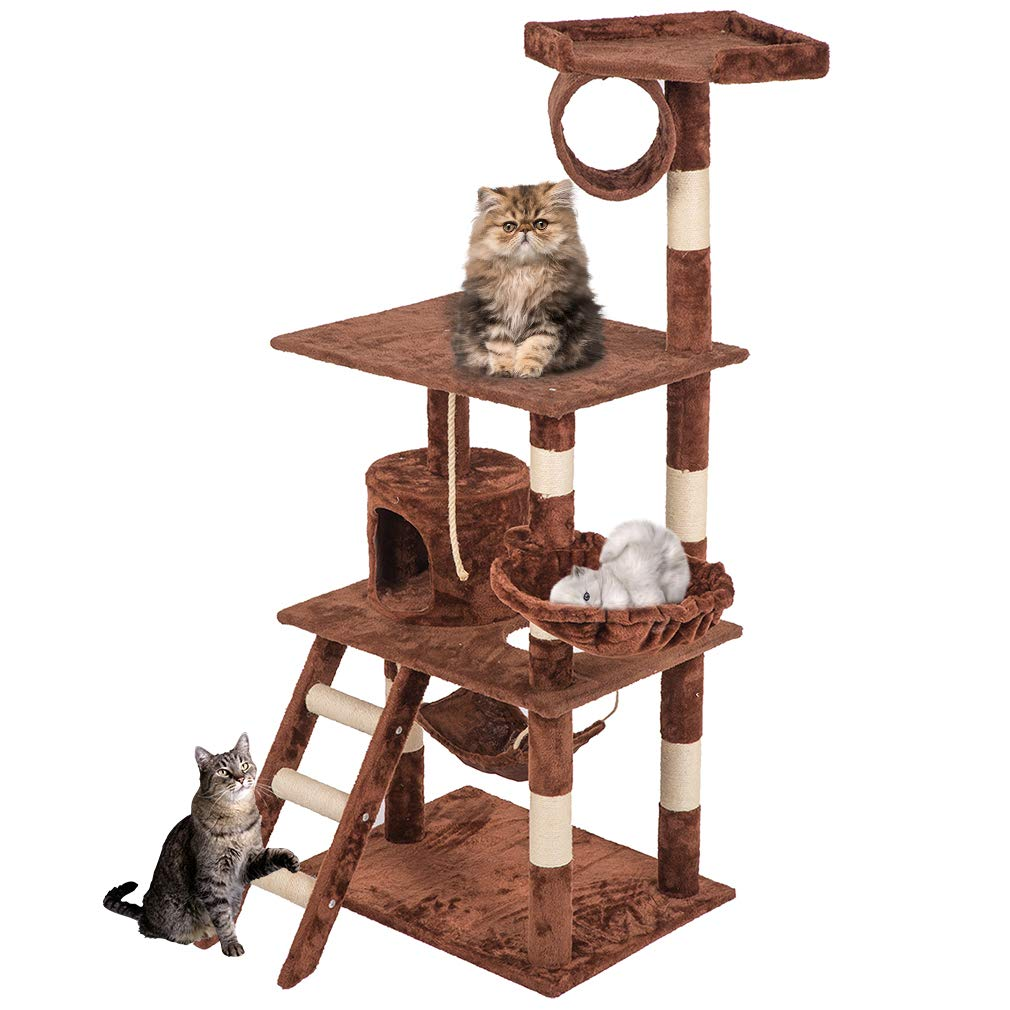 BestPet Cat Tree Cat Condo Kitty Tree Cat Tower Cat House with scratching post,64''