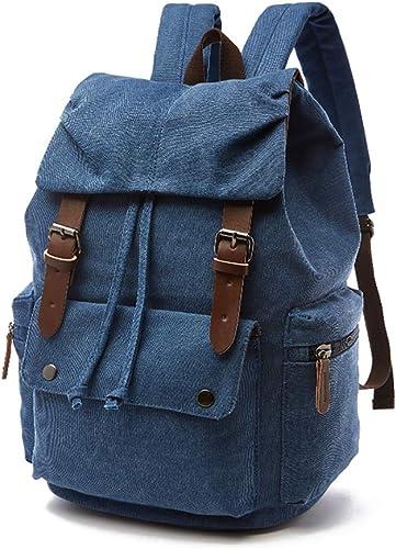 2018 Homme Toile Sac à dos Vintage Sac à Dos épaule Voyage Camping sac cartable