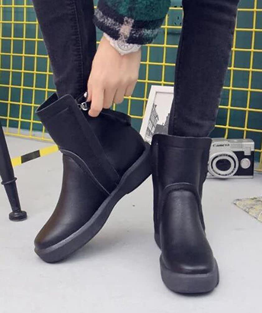 Easemax Damen Modisch Rund Zehe Kurzschaft Reissverschluss High Top Ankle Ankle Ankle Stiefel cd1f53