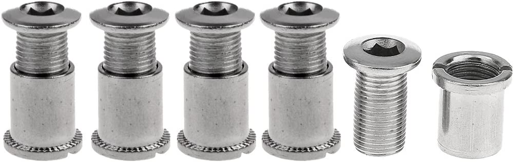 5 Pairs Stainless Steel Crankset Bolts Crank Bolts Chainring Bolts Silver-C