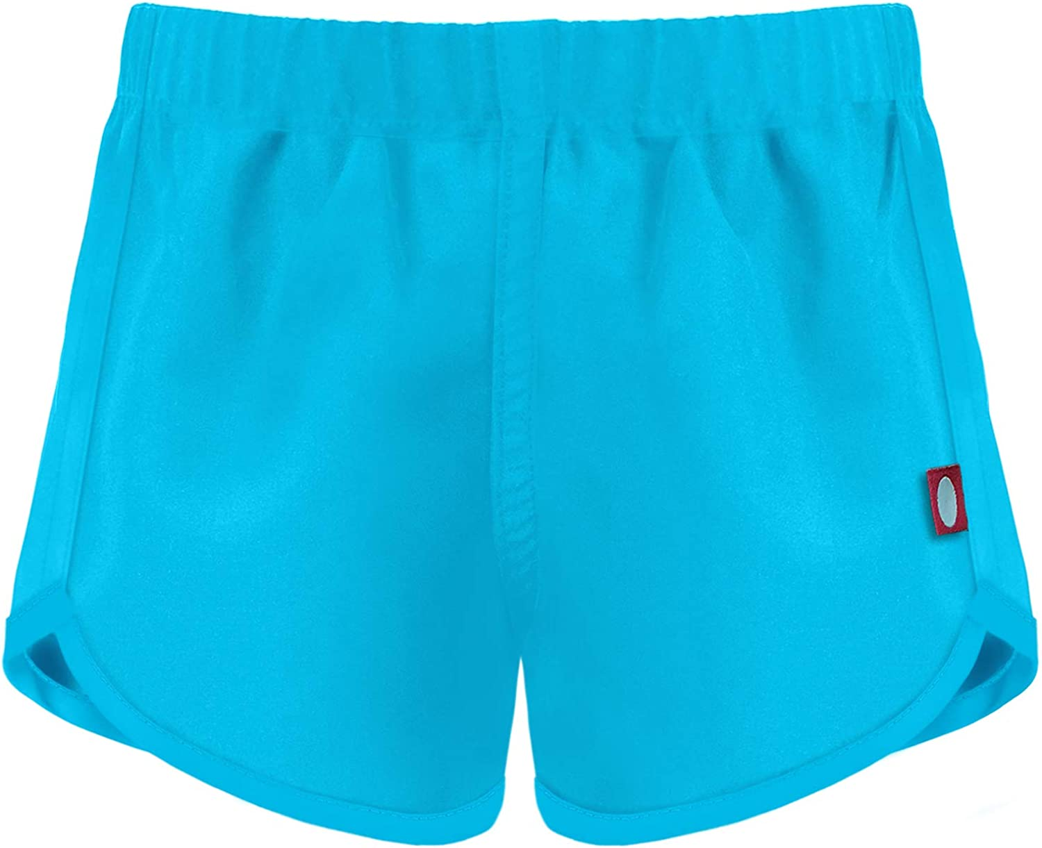 Made in USA City Threads Girls Slim Fit Swimming Coverup Shorts for Multi Sports Camps Beach Swim