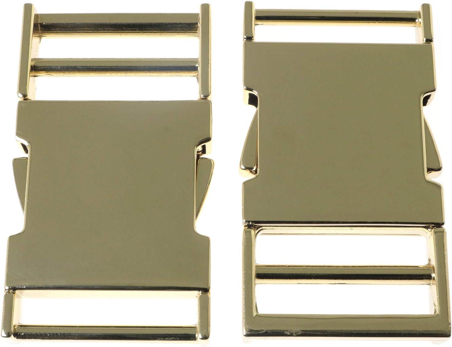 iEFiEL 5Pcs Hebilla de Liberaci/ón de Metal Lateral Doble 10mm Hebilla de Mochila Hebilla para Cintur/ón Hebillas de Pl/ástico para Collar de Perro Accesorios de Costura Lat/ón Antiguo One Size