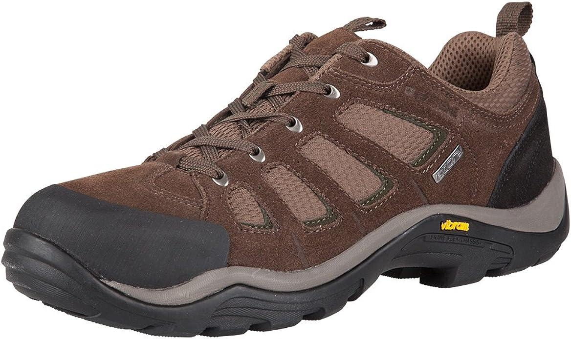 Vibram Sole Walking Shoes, Suede \u0026 Mesh