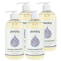Puracy Natural Liquid Hand Soap, Lavender & Vanilla, Moisturizing Gel Hand Wash,...