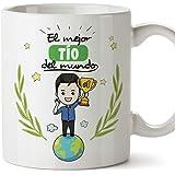 MUGFFINS Tazas Tío - El Mejor Tío del Mundo - Taza Desayuno Original/Idea Regalo Cumpleaños. Cerámica 350 mL