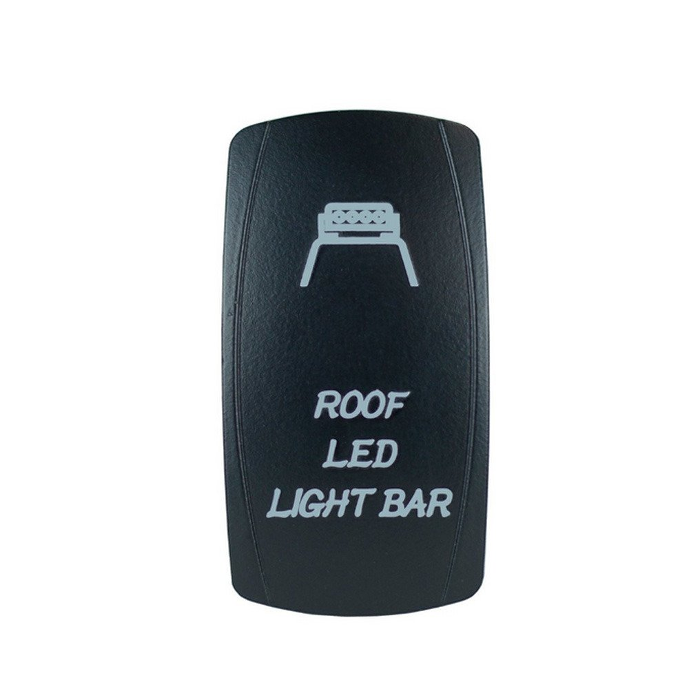 Mintice Interrupteur /à Bascule Commutateur Lampe Lumi/ère LED Bleu 12V 20A pour Voiture Bateau Roof Light