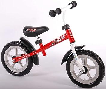 Bicicleta infantil Disney Cars metal pedales rueda 12 pulgadas 3 4 5 6 años de color rojo: Amazon.es: Deportes y aire libre