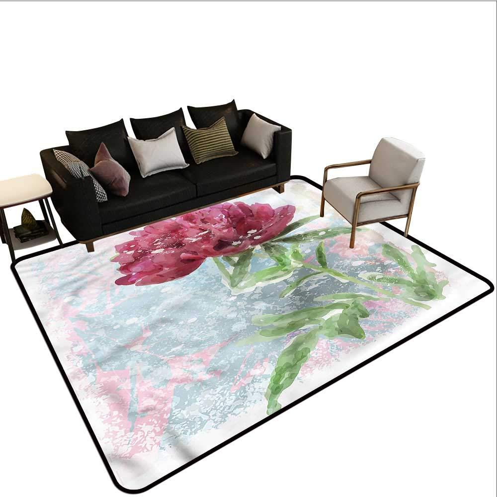 "Floral,Bathroom Rug Kitchen Carpet 36\""x 60\"" Peony Blossoms Growth Bathroom mats and Rugs 61EgsFBjqjL._SL1000_"