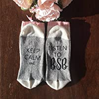 Keep Calm and Listen to BSB socks