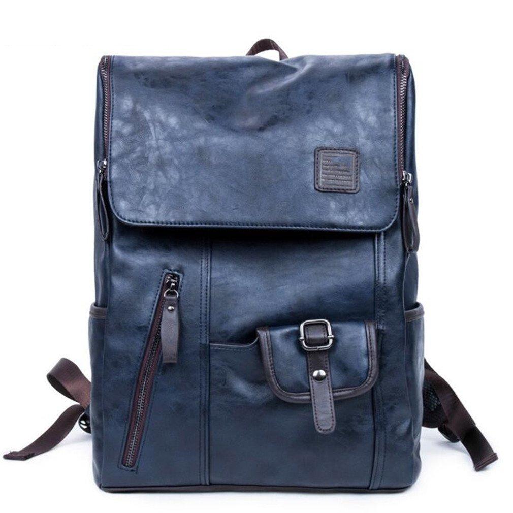 d38ead333828 Amazon.com: UKXMNC Large Capacity Men PU Leather Backpacks Male ...