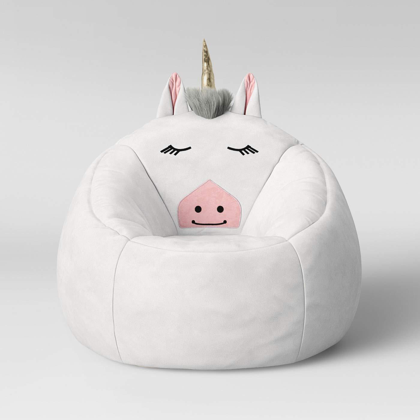 Prime Amazon Com White Unicorn Childrens Bean Bag Chair Kitchen Gamerscity Chair Design For Home Gamerscityorg