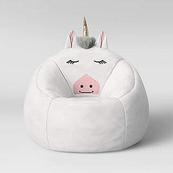 Cool Amazon Com White Unicorn Childrens Bean Bag Chair Kitchen Frankydiablos Diy Chair Ideas Frankydiabloscom