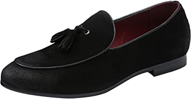 Santimon Mens Slip On Loafers Pointed