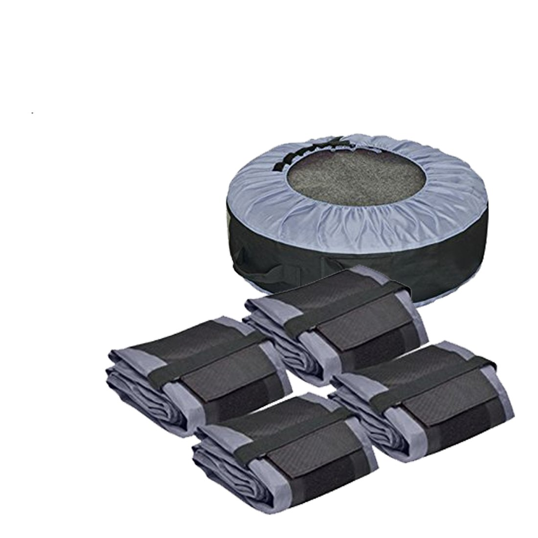 FLR Tire Tote Adjustable Waterproof Grey 30in Tire Covers Bags Seasonal Tire Storage Bag for Car Off Road Truck Tire Totes Set of 4 by FLR (Image #3)