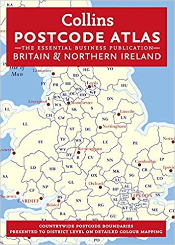Map Of Uk Postcodes.Postcode Atlas Of Britain And Northern Ireland Collins Postcode