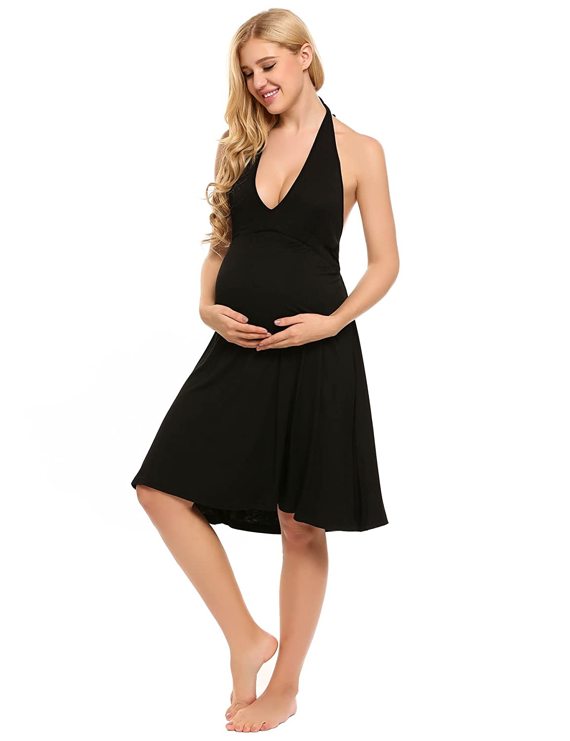 Ekouaer Womens Maternity Nursing Nightgown Dress / Labor Gown for ...
