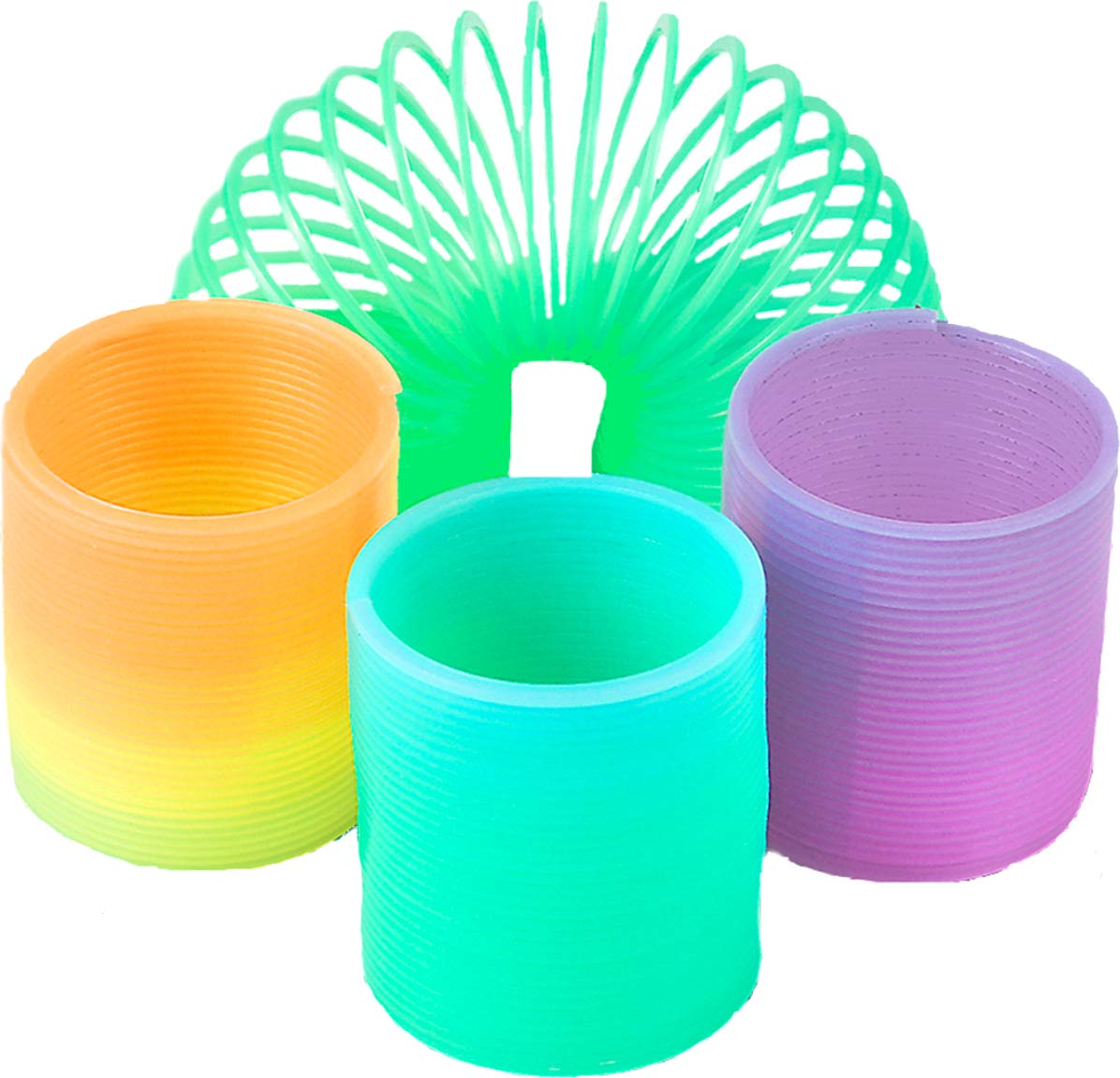 Rhode Island Novelty CSGLO35 Glow in the Dark 1.5 Coil Spring 12 Pack Birthday Party Goody Bag Treat