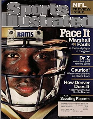Marshall Faulk Rams Nfl Preview Sports Illustrated September 2001!