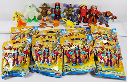 [Fisher-Price Imaginext Collectible Figure Blind Bag Series 5 Complete Set of 8 (Sealed in Packs) - Cyclops, Ghost, Chinese Warrior, Genie, Fly, Crash Test Dummy, Wolfman, Warrior Queen] (Series 5 Figure Set)