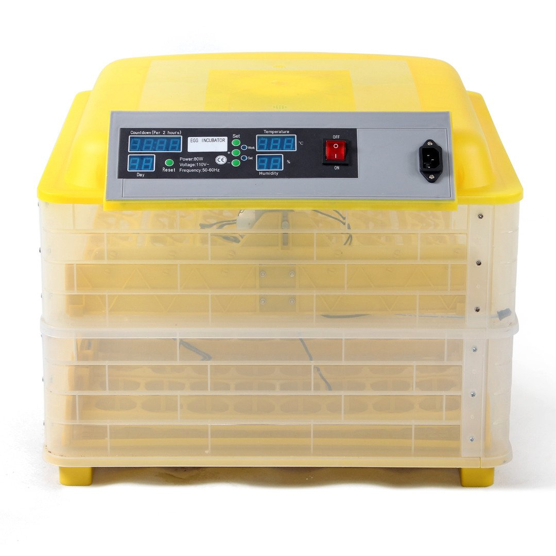 SUNCOO 96 Digital Egg Incubator Hatcher Temperature Control Automatic Turning Chicken
