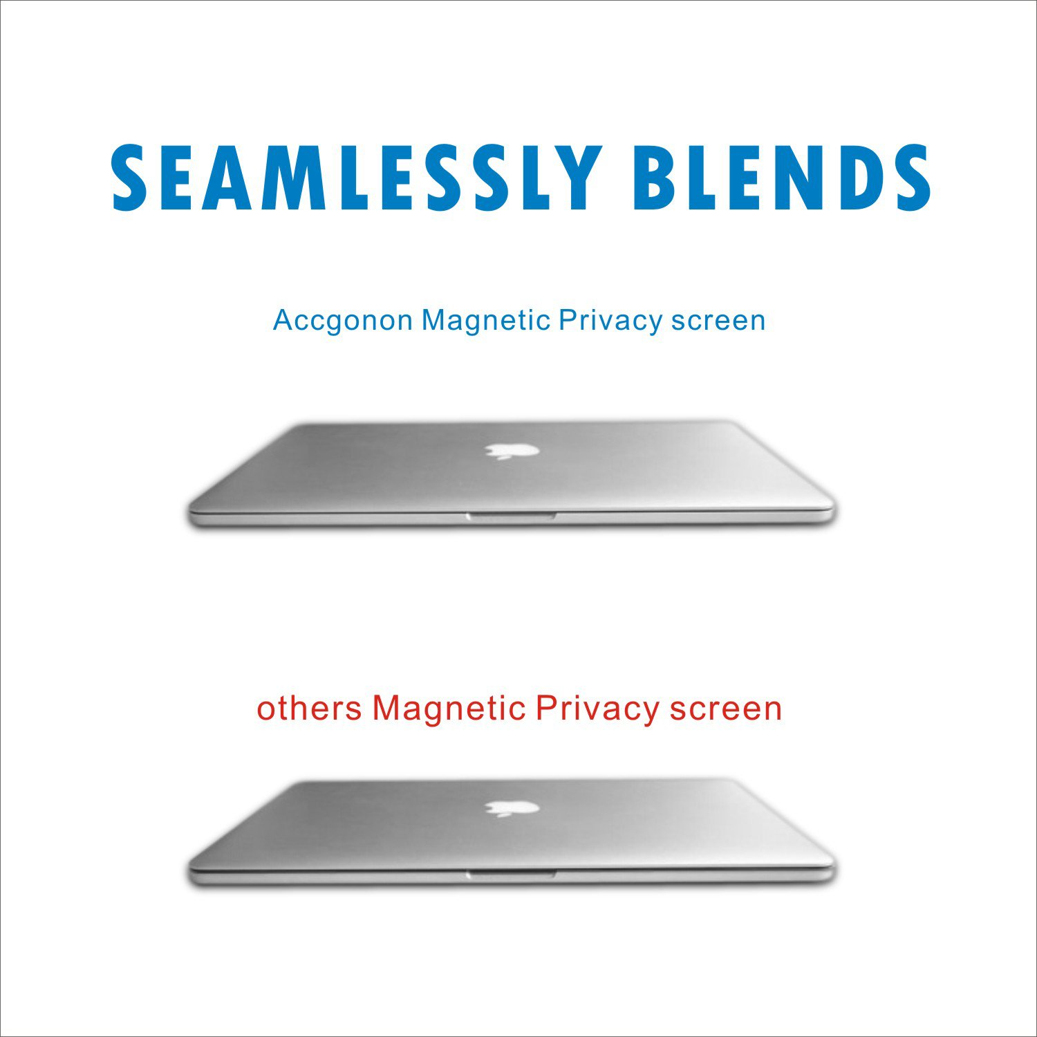 Accgonon Laptop Magnetic Privacy Screen Protectors Filter,Compatible 13-inch MacBook Pro (2016-current Version,Model:A1706A1708A1989),Anti-Glare,Anti-Spy,Scratch and UV Protection,Easy On/Off by ACCGONON (Image #5)