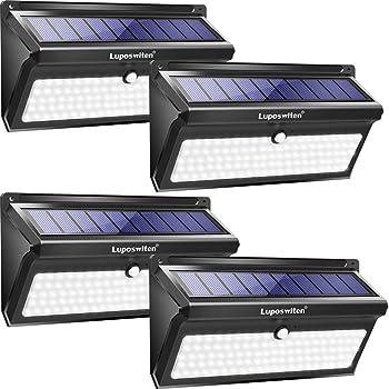 4-Pack Luposwiten 100 LED Waterproof Solar Powered Sensor Security Light
