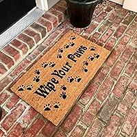 Tar Heel MarketPlace Mats New Natural Coir Non Slip Wipe Your Paws Floor Entrance Door Mat Indoor/Outdoor (18 X 30)