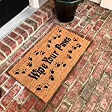 New Natural Coir Non Slip Wipe Your Paws Floor Entrance Door Mat Indoor / Outdoor (24 X 36) + FREE Rubber Mat ($20 Value)