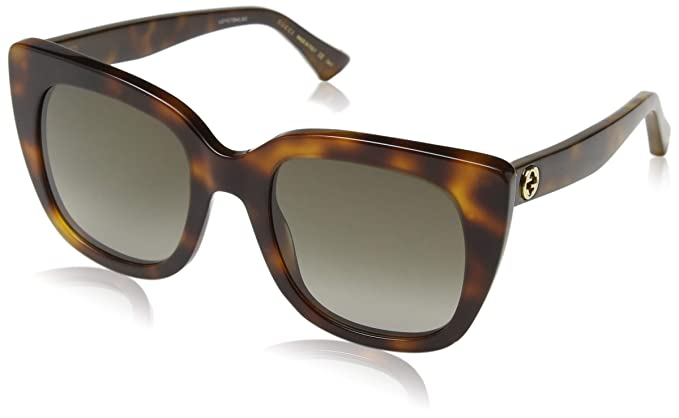 Gucci GG0163S 002 Gafas de sol, Marrón (2/Brown), 51 para ...