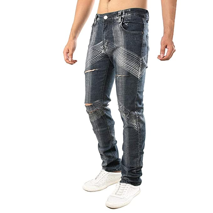 STRIR Pantalones Vaqueros Rotos Hombre, Jeans Pantalones ...