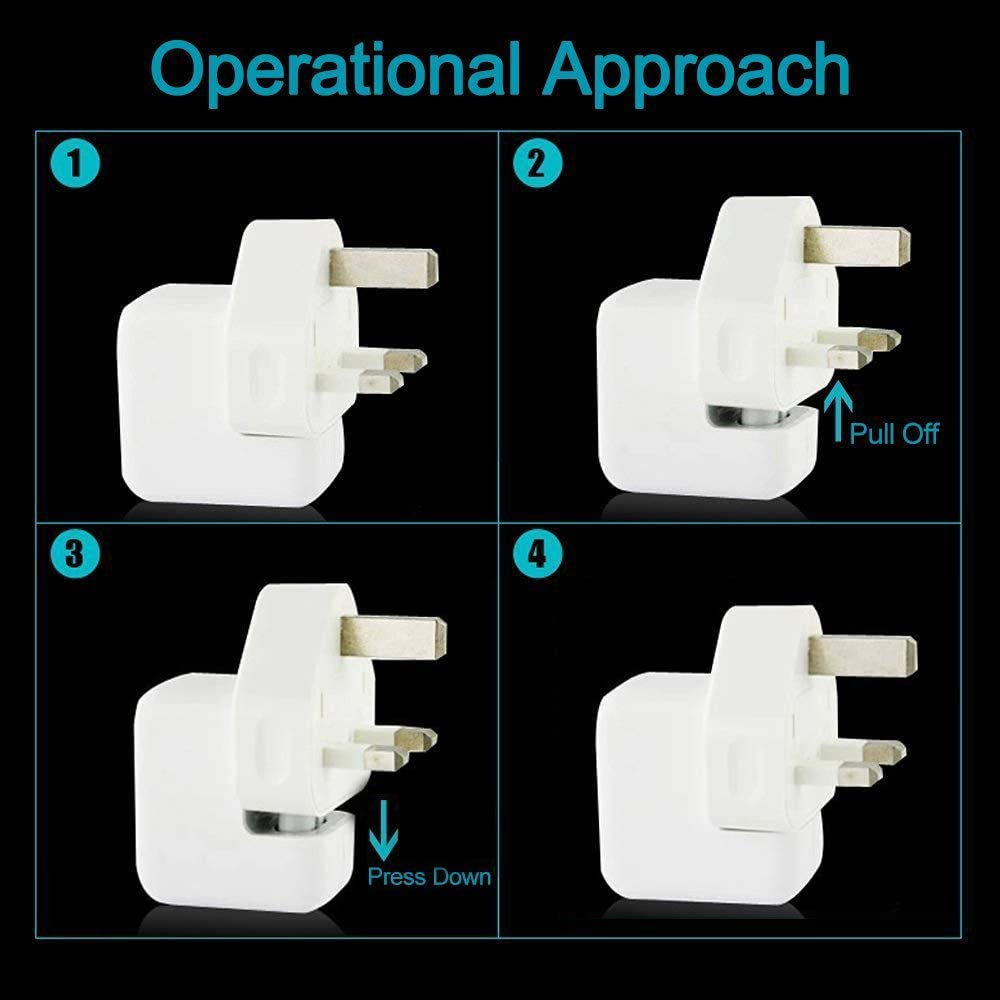 NOT a knockoff NEW GENUINE Apple DuckHead 2-Prong Wall Adapter AC Charger Plug