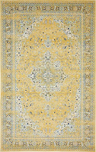 Unique Loom Tradition Collection Classic Southwestern Yellow Area Rug (5' 0 x 8' 0)