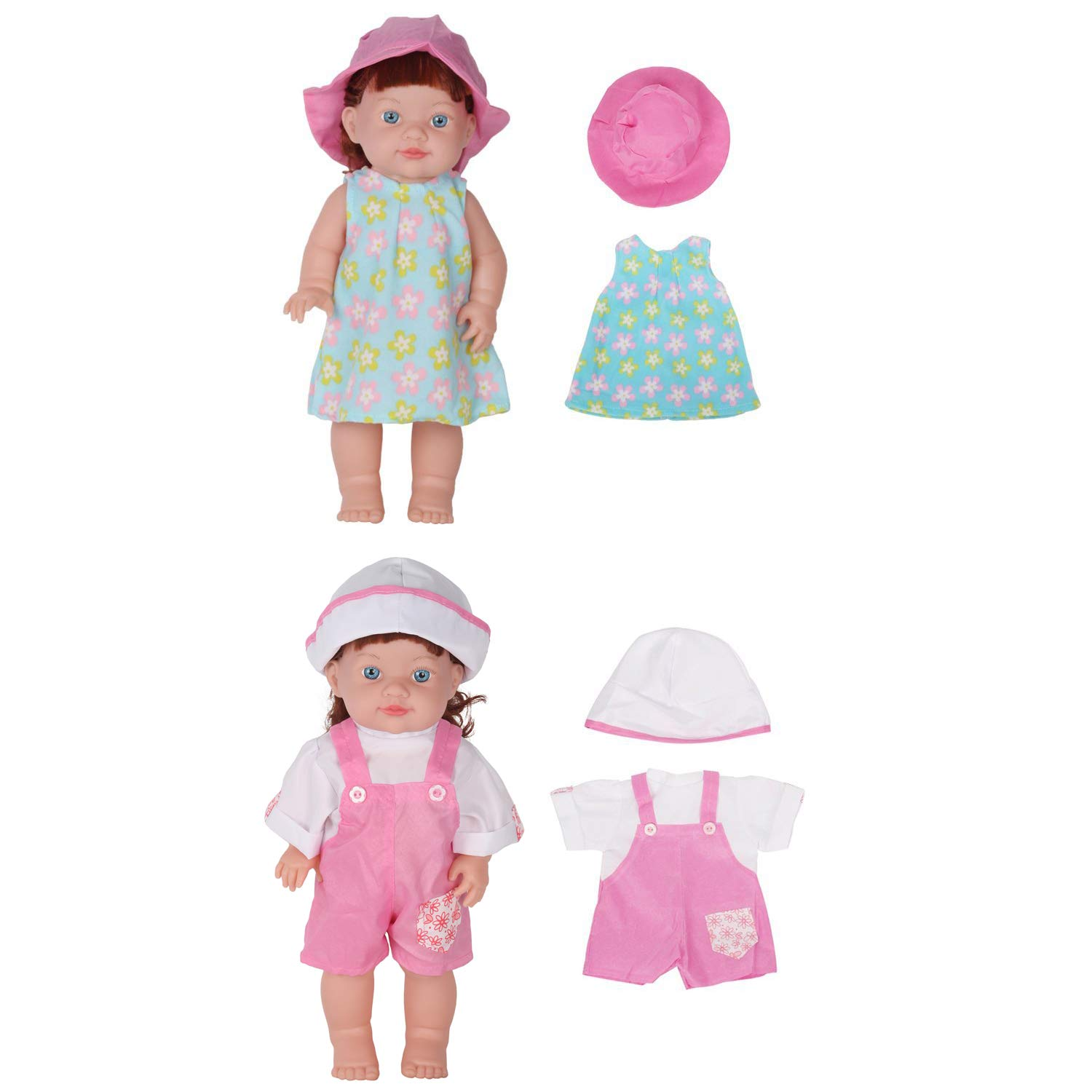 30262cecacf83 Huang Cheng Toys Set of 12 Handmade Lovely Baby Doll Clothes Dress Outfits  Costumes For 14-15-16 Inch Dolly Pretty Doll Cloth Hat Cap Umbrella Mirror  Comb ...