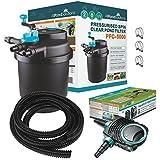 Kits avec filtre pressurisé pour bassins à koïs et stérilisateur UV – Tout en un – Pour étangs jusqu'à 50000L (PFC-5000-KIT)