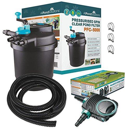 All Pond Solutions - PFC-5000 - Kit de Filtro a presion para estanques de Koi y esterilizador UV para acuariofilia