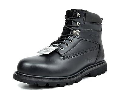 a792adfa0bb86 Amazon.com | arctiv8 Men's Titan-S-03 Black Full-Grain Leather Steel ...