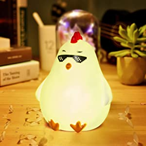 Cute Chick Night Lights for Kids Soft Lights for Toddler Baby Newborn Rechargeable Touch Animal LED Lamps for Nursery Breastfeeding Perfect Girls Boys Easter Gifts Cool Children Bedrooms Decor